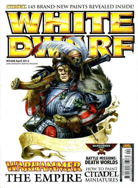 Magazine cover of White Dwarf #388 - April 2012